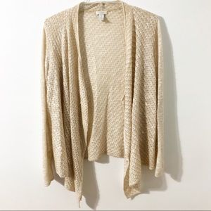 Chico's Size 1 Cascading Sweater in Neutral Color